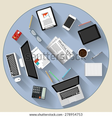 Modern flat design brainstorming and teamwork concept   for e-business, web sites, mobile applications, banners, corporate brochures, book covers, layouts etc. Raster copy of vector illustration - stock photo