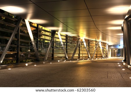 modern flyover at night - stock photo