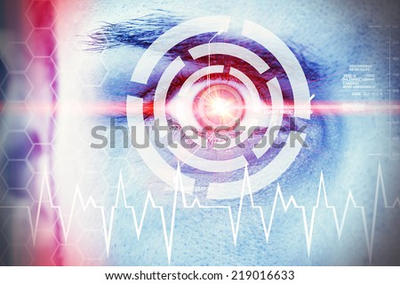 Modern, futuristic eye - stock photo