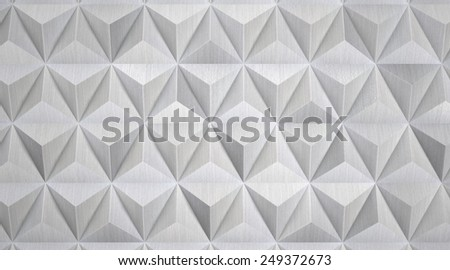 Modern Geometric Aluminum Background - stock photo