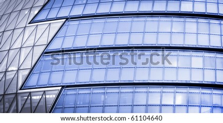 Modern Glass Architecture in City of London, UK. - stock photo