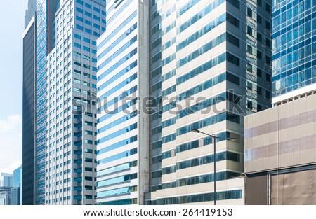 modern glass building  - stock photo