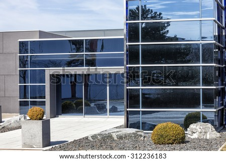 Modern glass building - stock photo