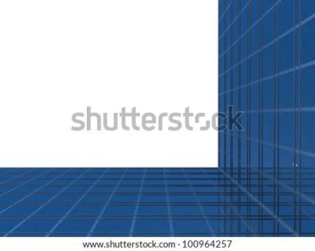 Modern glass skyscrapers - stock photo