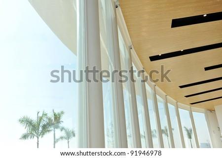Modern glass window on modern building. - stock photo