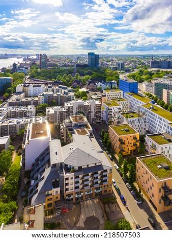 Modern green city - stock photo