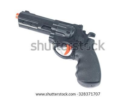 Modern Gun isolate on white - stock photo