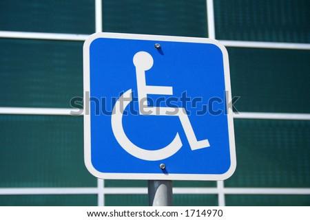 modern handicap placard - stock photo