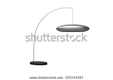 Modern Hanging floor Lamp isolated on a white background - stock photo