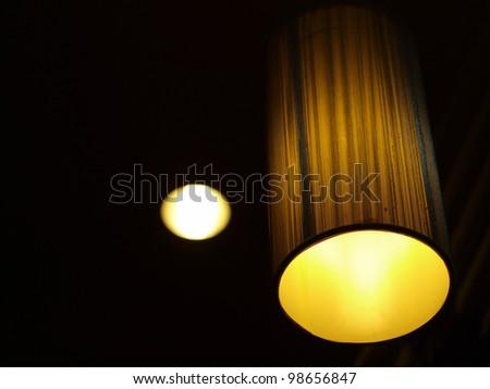 modern hanging lamp - stock photo