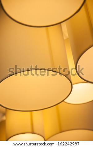 Modern hanging lamp in hotel. - stock photo