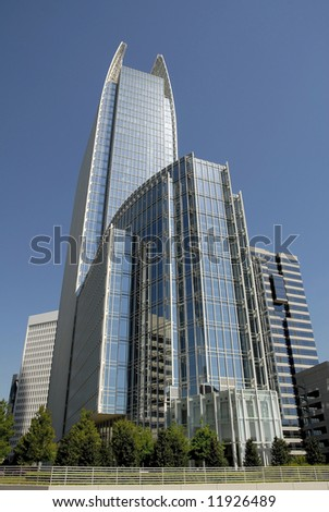 Modern Highrise Office Building in Midtown Atlanta - stock photo
