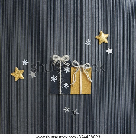 Modern Holiday Present Card - stock photo