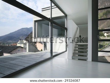 modern house - stock photo