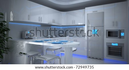 Modern House Interior - stock photo