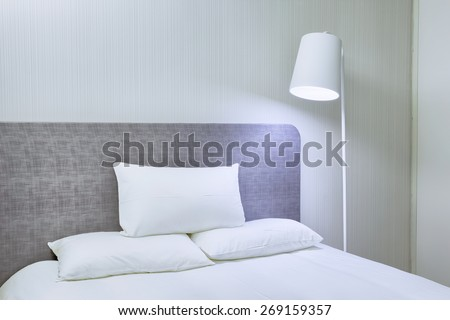 modern house interior decoration and furnitures - stock photo