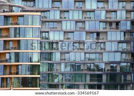 Modern housing in London - stock photo