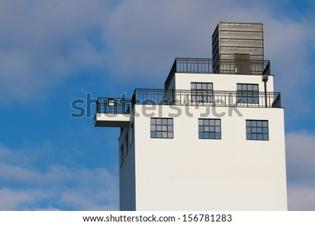 Modern industrial mill building - stock photo