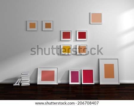 Modern interior composition. - stock photo