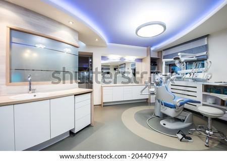 Modern interior of a dentist office - stock photo