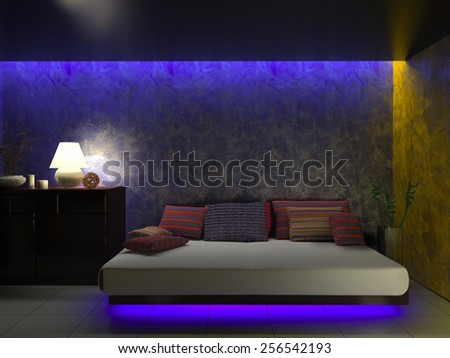 Modern interior of a room 3d rendering - stock photo