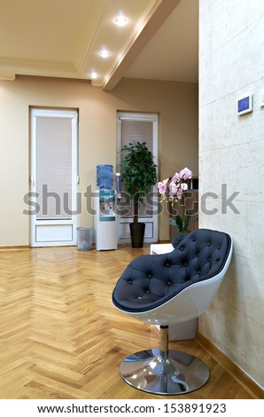 Modern interior with chair -waiting room - stock photo