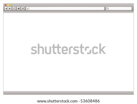 Modern internet web browser with room to add your own page - stock photo