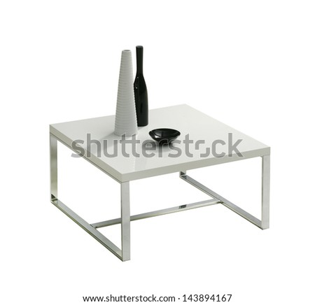modern isolated table - stock photo