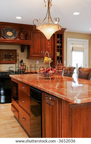 modern kitchen with classic elements - stock photo