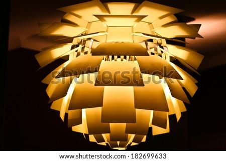modern lamp of danish design - stock photo