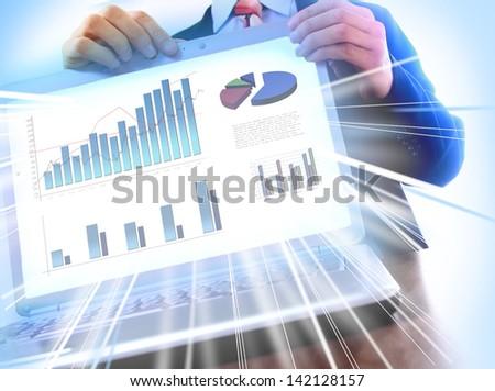 modern laptoop isolated on white background - stock photo