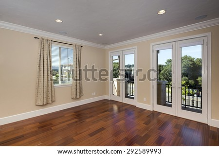 Modern large empty living room - stock photo