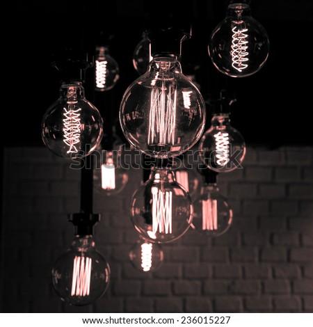 Modern light bulb background - stock photo