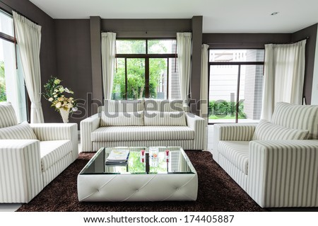 Modern living room  - stock photo