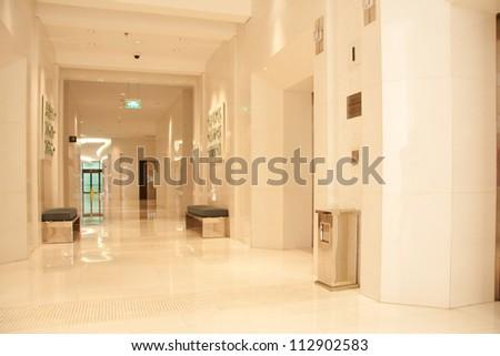 Modern lobby for five stars hotel - stock photo