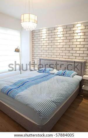 Modern luxury  bedroom  /  Hotel Room - stock photo