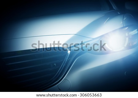 Modern luxury car close-up background. Concept of expensive, sports auto. - stock photo
