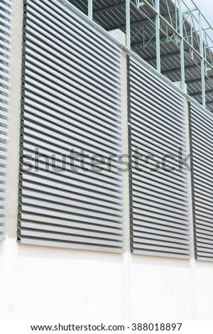 Modern metal ventillation grid like style  - stock photo