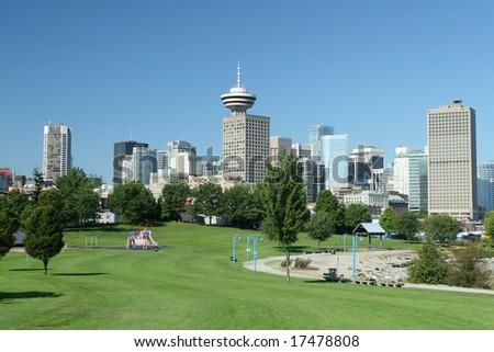 Modern Metropolis With Park - stock photo