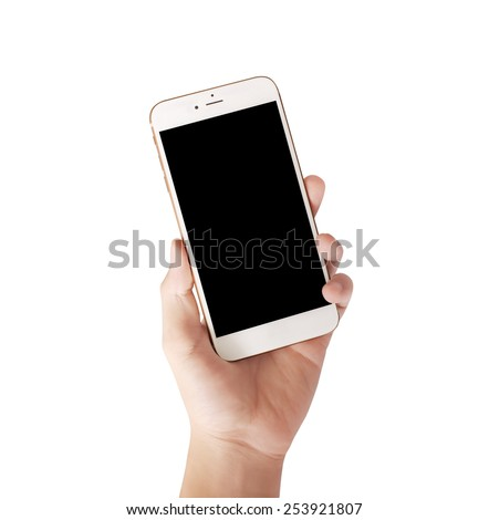 Modern mobile phone in the hand  - stock photo