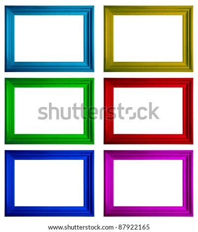 Modern multicolored frames with copy-space on a white background - stock photo