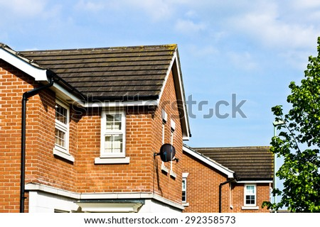 Modern new build homes in Bury St Edmunds, UK - stock photo
