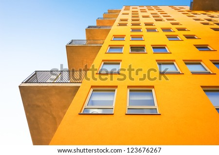 modern new plattenbau - nice background - stock photo