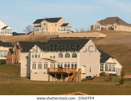 Modern new suburban housing. - stock photo