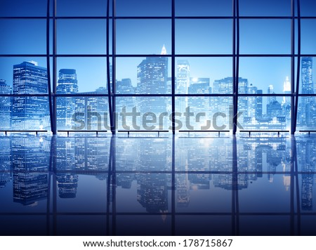 Modern New York City Interior Architecture 	 - stock photo