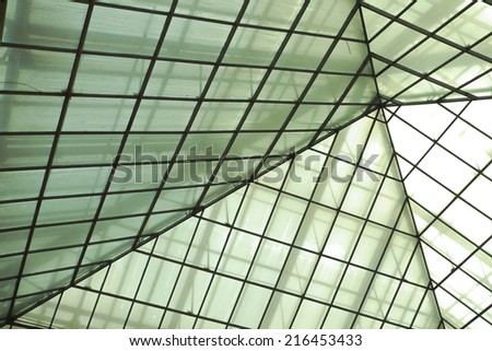 Modern office architectur at glass wall backgrounds - stock photo