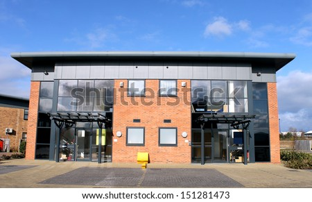 Modern office building for rent or let - stock photo