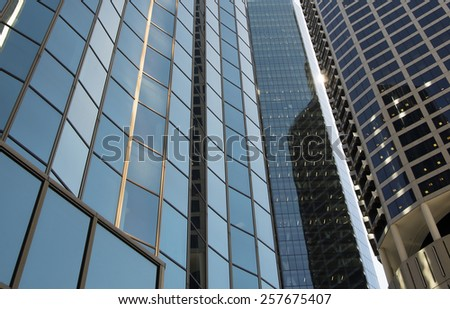 modern office buildings close up - stock photo