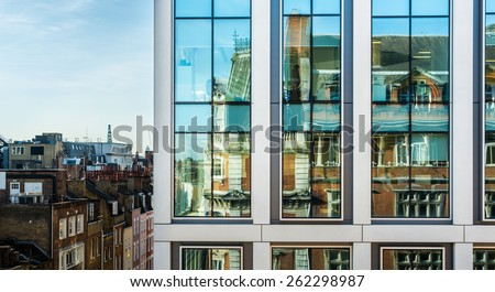 Modern Office Buildings in London. - stock photo