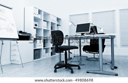 modern office interior - stock photo